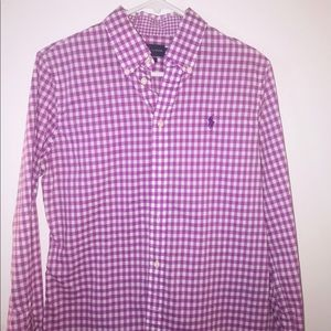 Purple gingham button down